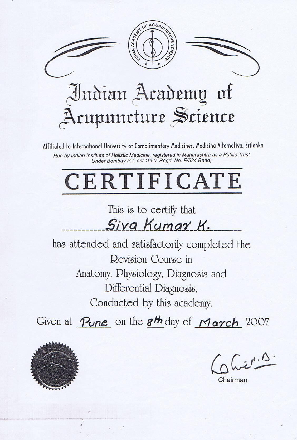 Dr  Sivakumar K - Alternative Medicine - Book Appointment