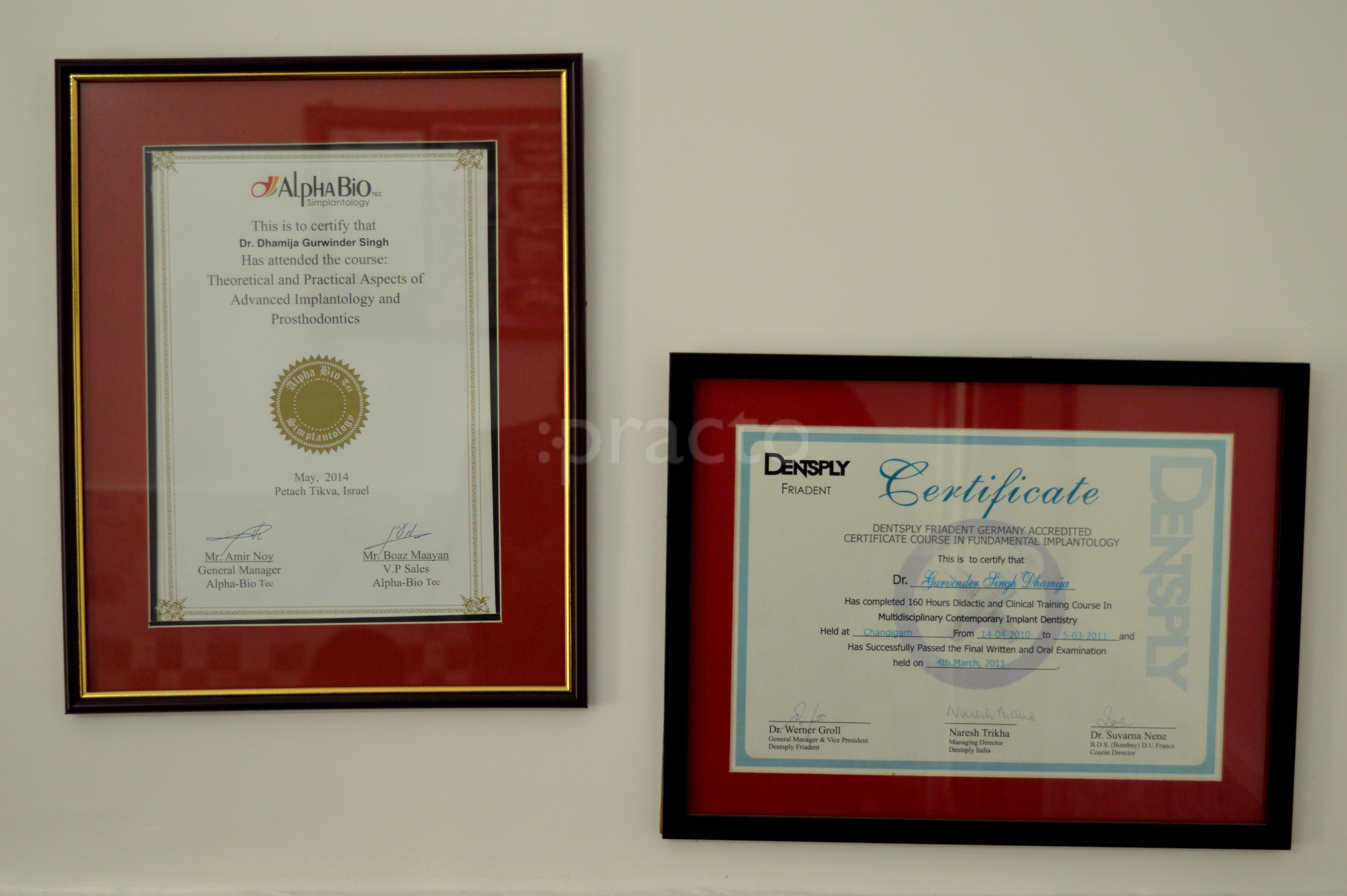 What certificates are required when opening a dental practice?