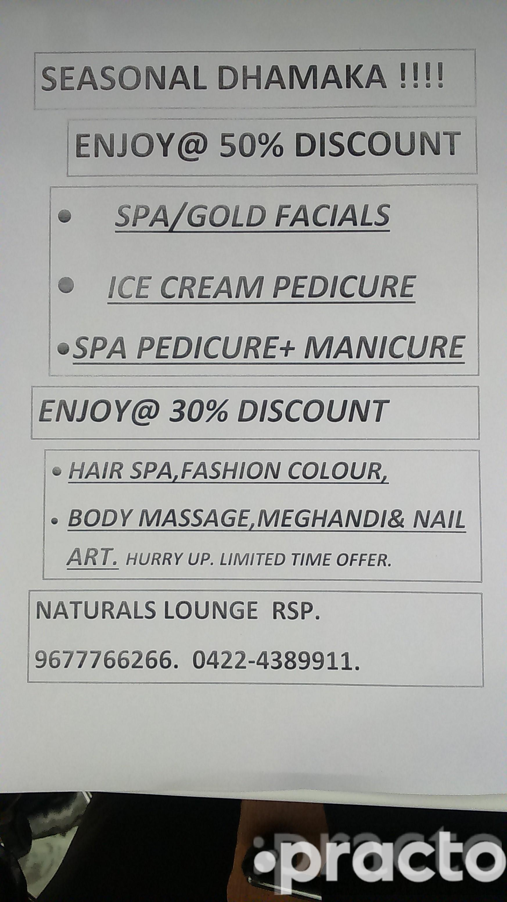 Mr. NATURALS LOUNGE - RS PURAM - Spa