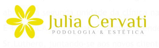 Julia Cervati - Podologia e Estética