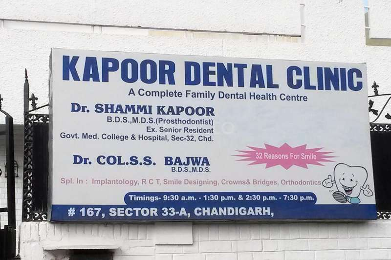 Kapoor Dental Clinic, Prosthodontics Clinic in Sector-33