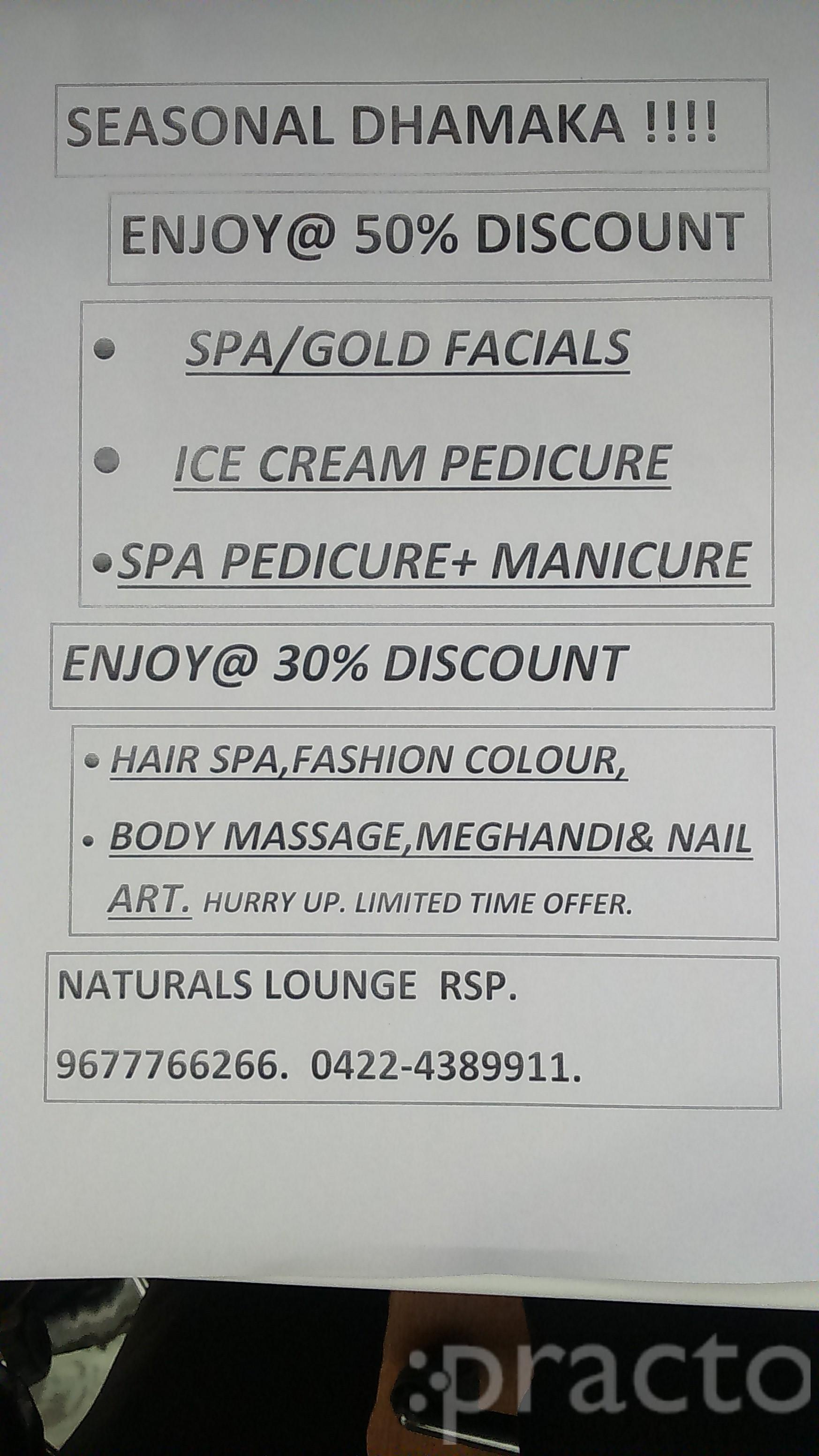 Dr. NATURALS LOUNGE - RS PURAM - Spa