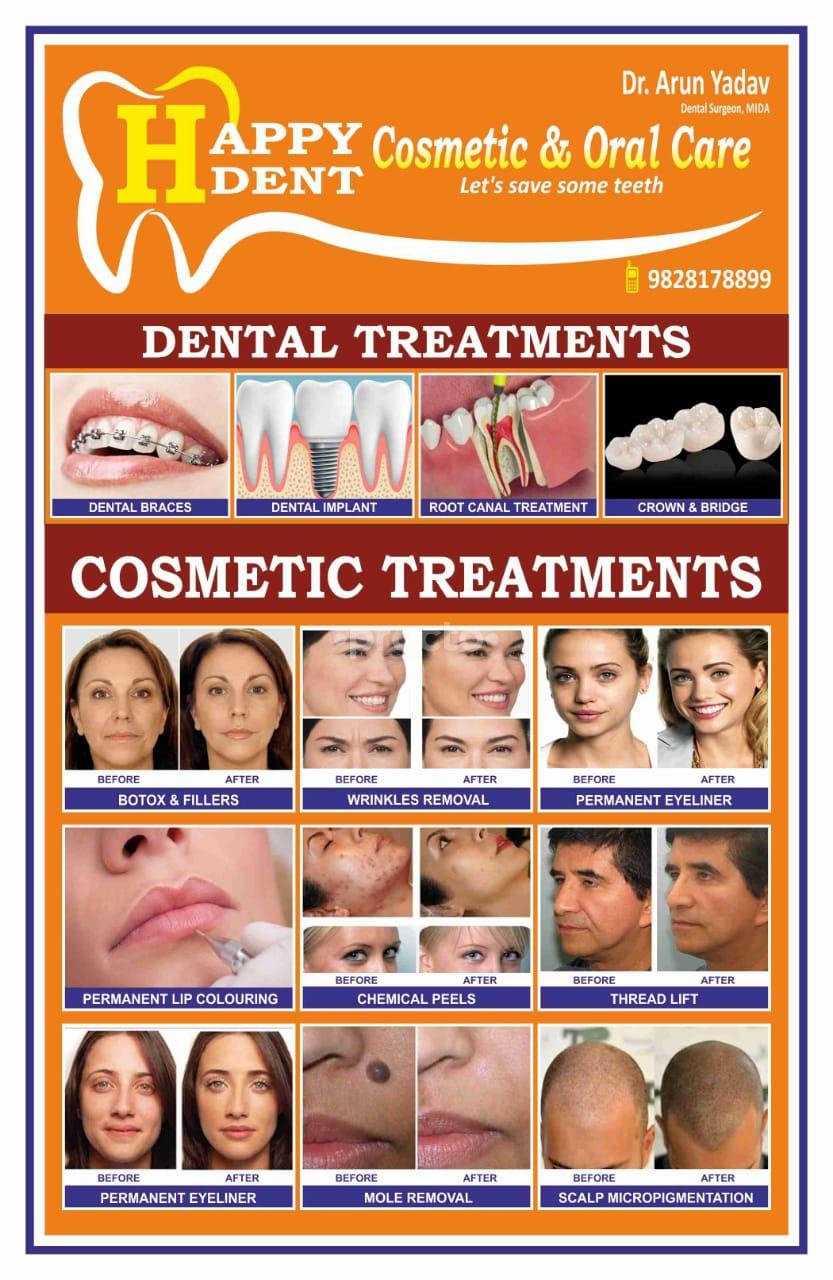 Happydent Cosmetic & Oral Care, Multi-Speciality Clinic in Jhotwara