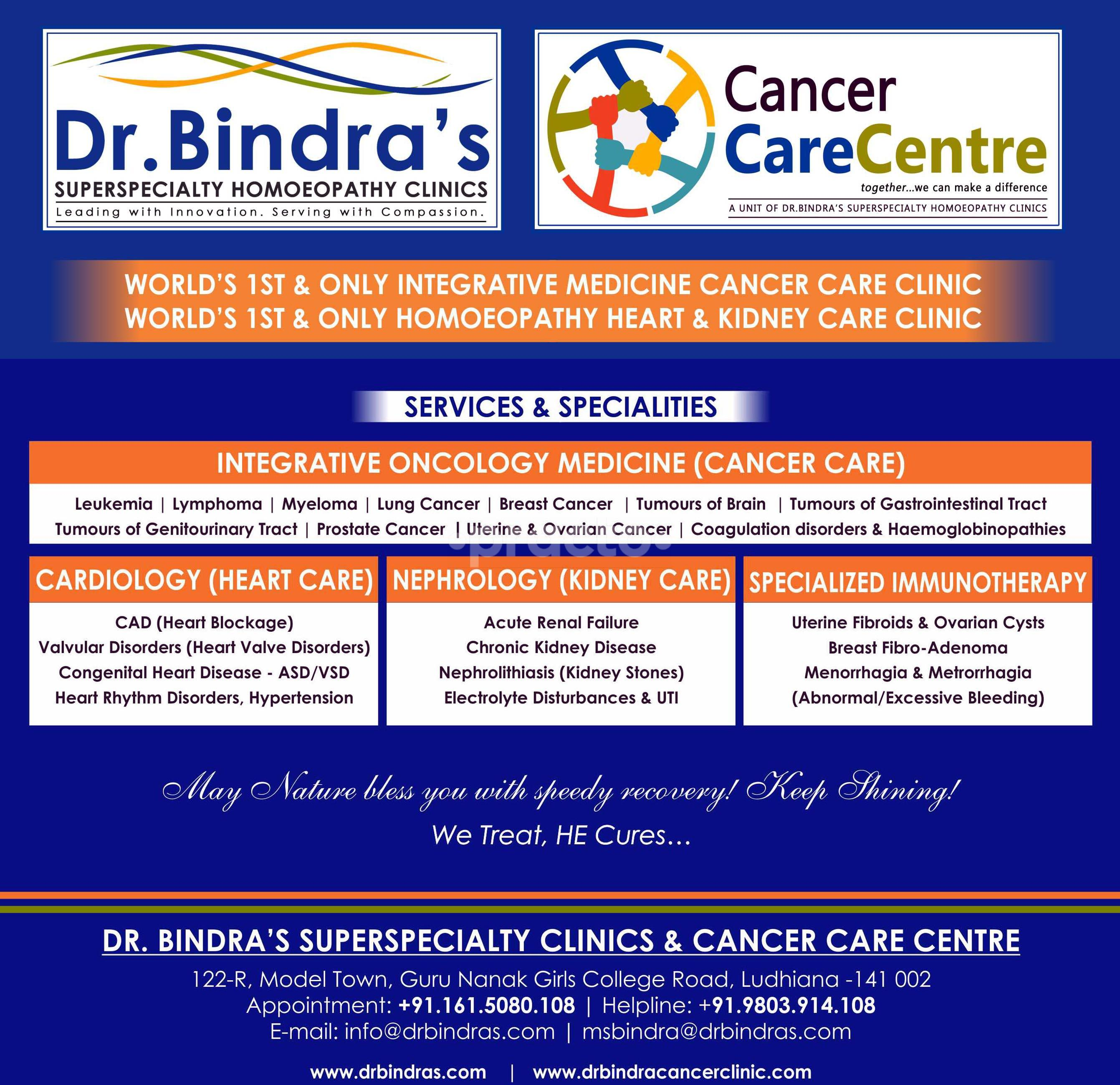 Dr Bindra's Superspecialty Homeopathy Clinic & Cancer Care