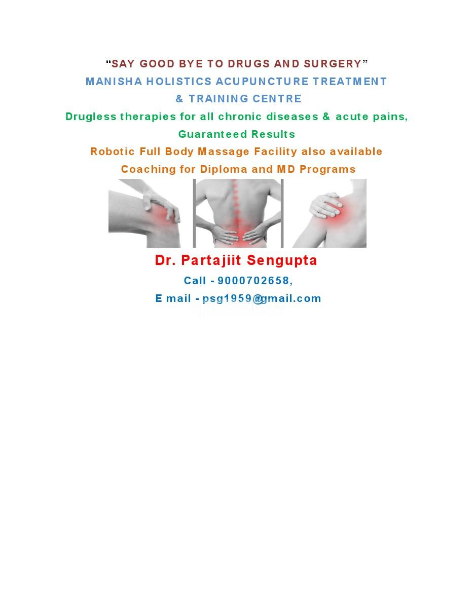 Manisha Holistics Acupuncture treatment  Centre
