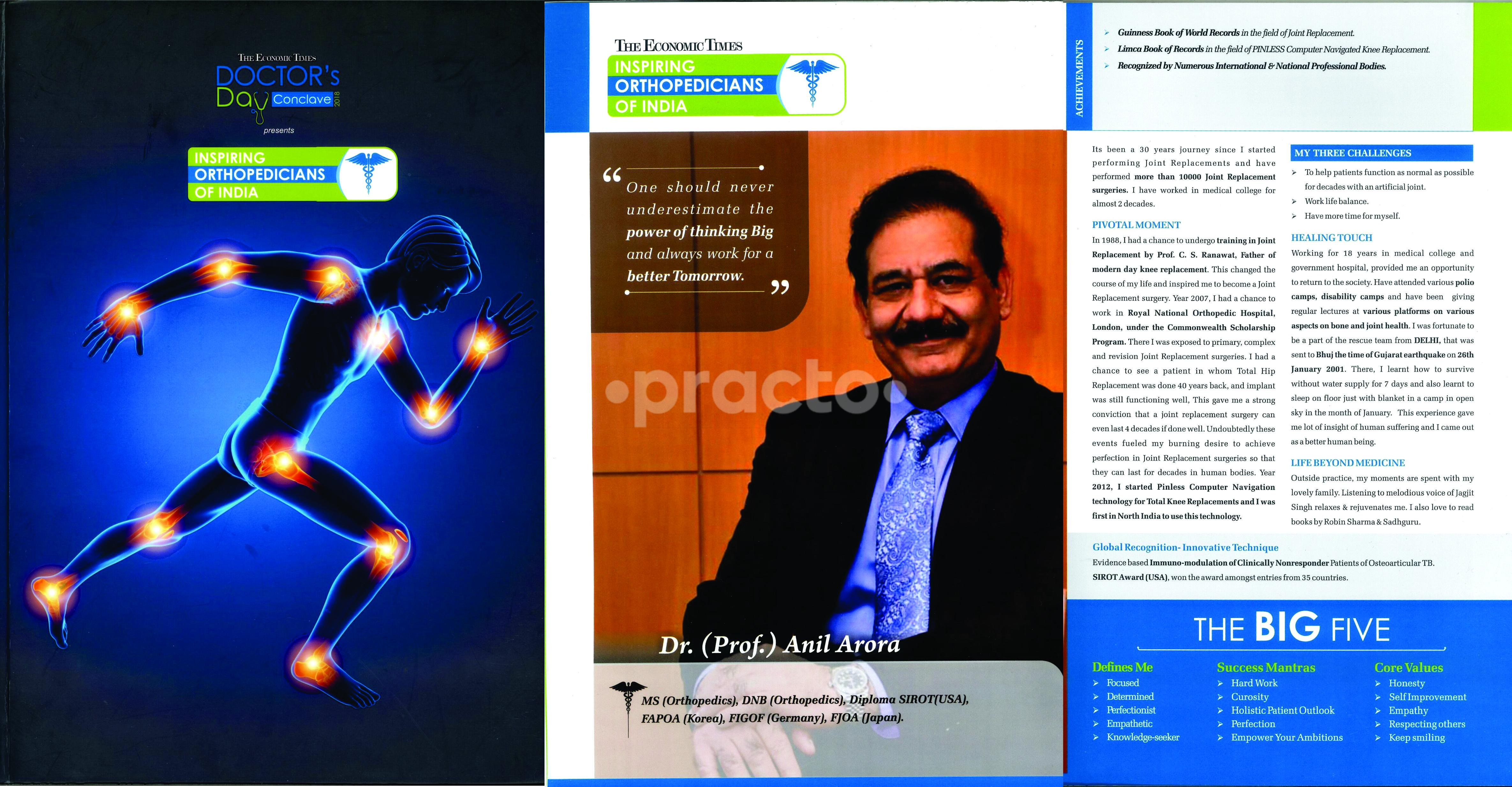 Dr  (Prof ) Anil Arora - Joint Replacement Surgeon - Book
