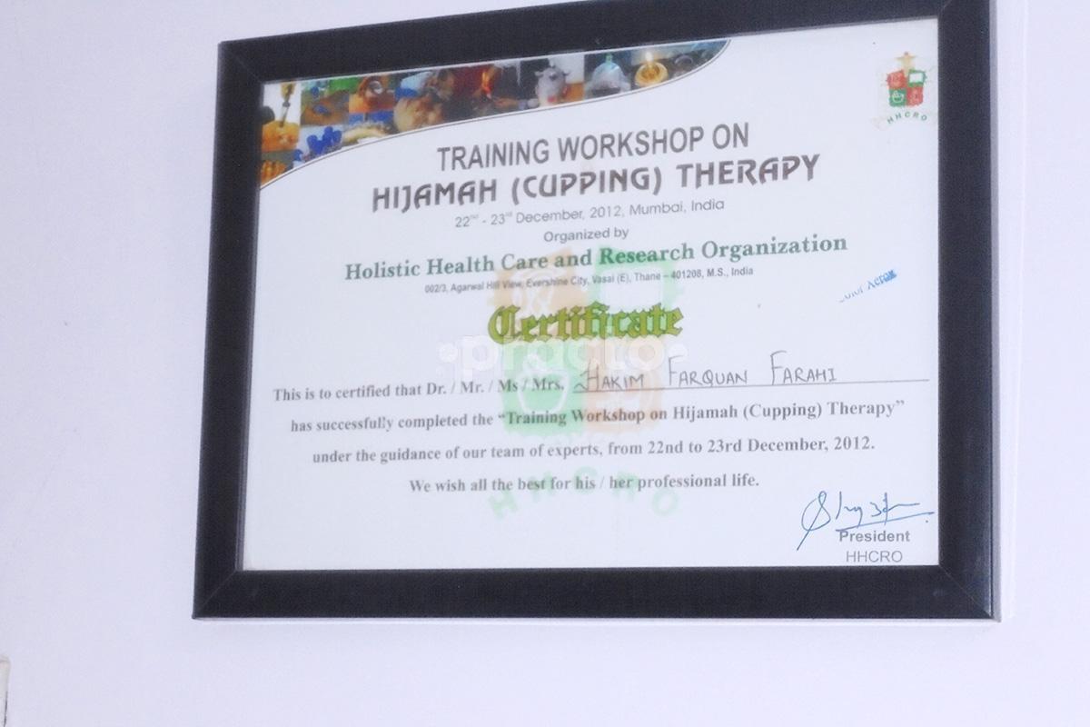 Dr Farahi Unani Hijama Clinic Unani Clinic In Vikas Nagar