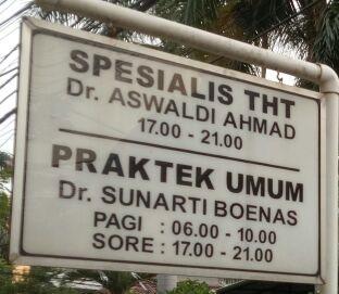 Spesialis THT dr Aswaldi Ahmad