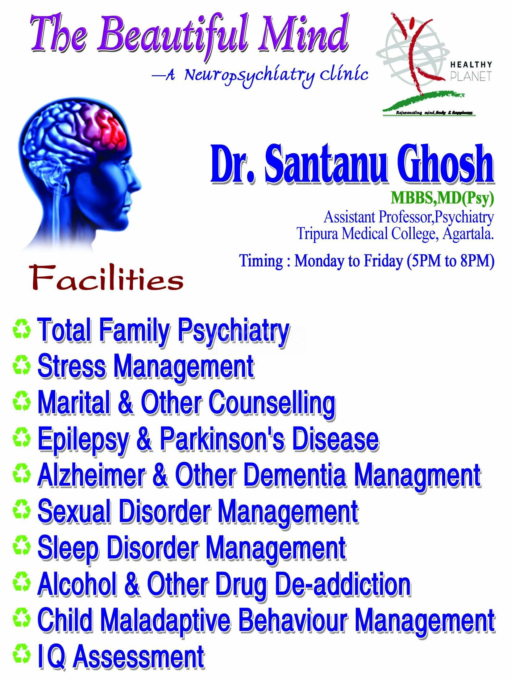 Dr  Santanu Ghosh - Psychiatrist - Book Appointment Online