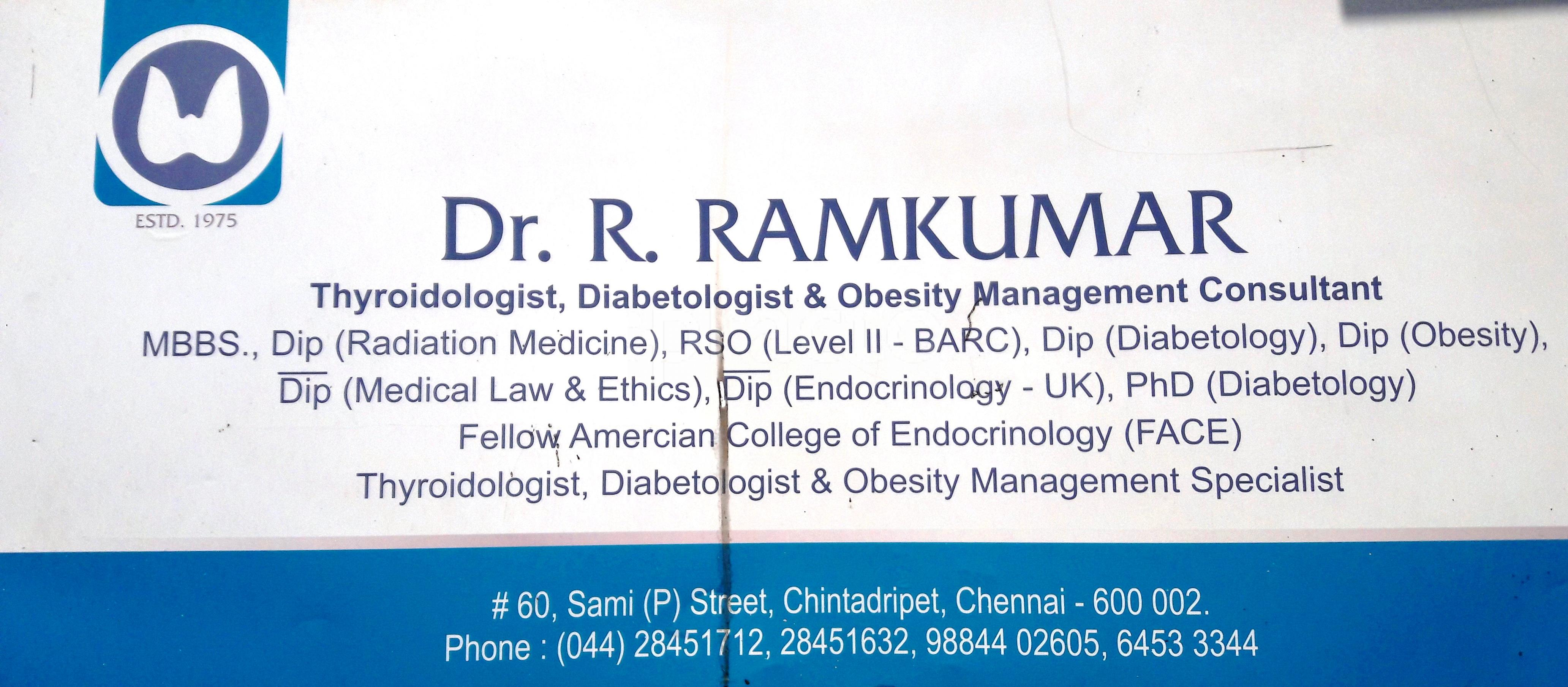 Endocrinologists In Chennai - Instant Appointment Booking, View Fees
